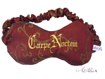 Schlafmaske Carpe Noctem, bordeaux/gold